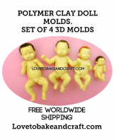 Fairy mold, OOAK fairy, Polymer clay fairy, Pixie, Elf,  4 moulds, Free worldwide shipping (1)